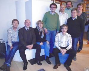 v.l.n.r: Ernes Barnet, Jürgen Fremd, ALison Ehrmann, Peter Schalajda, Klaus Frick, Michael STraub, Klaus Böttger, Sabine Imping, vorne sitzend: Bernd Müller