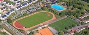 Sportplatz Grienmatt aus der Drohnenperspektive