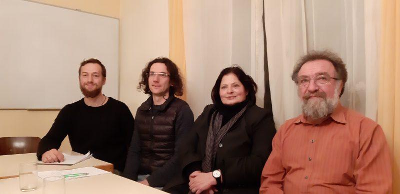 Die anwesenden Kreistagskandidatin und -kandidaten 2019: Felix Straub (7), Sebastian Prigge (3), Heidi Sutter-Schurr (1), Michael Straub (2)