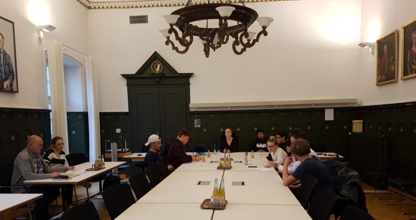 Sitzung des Jugend Parlaments im Rathaus von Schopfheim im April 2019