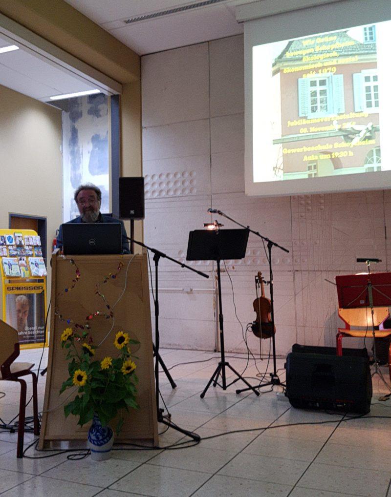 Michael Straub beim Rückblick auf 40 Jahre Grüne Schopfheim