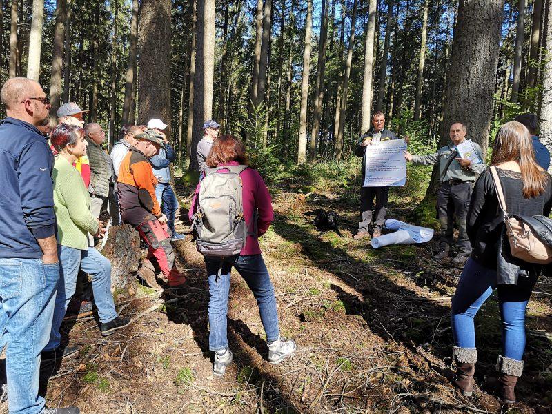 Ein Gruppe Schopfheimer Gemeinderatsmitglieder im Schopfheimer Forst